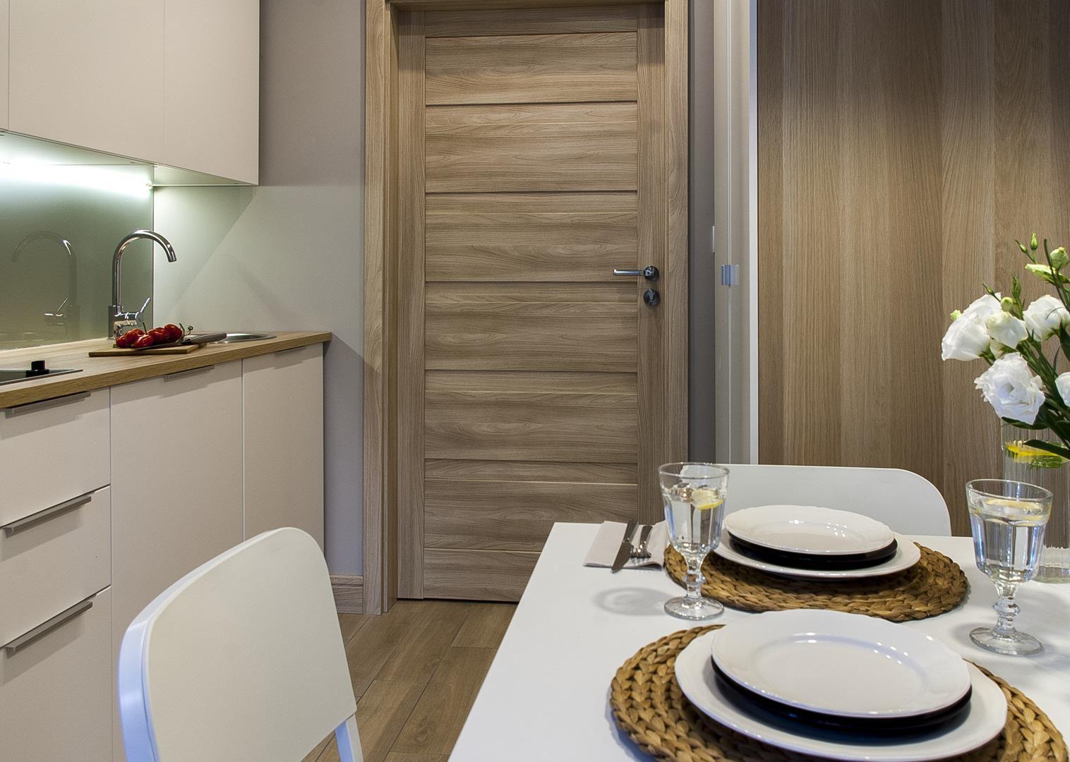 apartamenty w częstochowie, kuchnia i jadalnia
